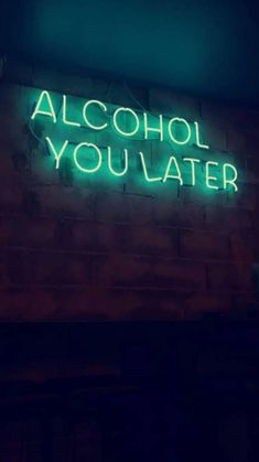 We're Neon Sign lovers here. Like good design? Get your fill at Referential Treatment. See more neon lights, led lights, el wire lights like this on this board. Neon Aesthetic, Quote Aesthetic, Alcohol Aesthetic, Music Aesthetic, Neon Quotes, Neon Words, Neon Lighting, Funny Signs, Wallpaper Quotes