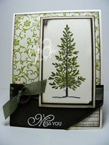 Lovely As a Tree masculine card - Stampin' Up!