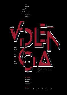 Desplegable Tipografico - Diseño I - Gabriele on Behance