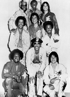 Richard Finch (bottom right) was the founder of KC and the Sunshine Band who won multiple Grammy Awards for their disco/funk music. '
