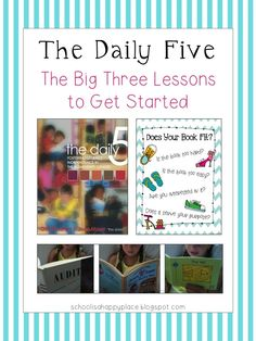 School Is a Happy Place: The Daily Five:  The Big Three (Mini Lessons to Launch Read to Self and a FREEBIE).