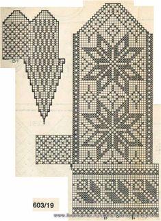 Knitting Charts, Knitting Stitches, Knitting Socks, Knitting Patterns, Fair Isle Knitting, Knitted Mittens Pattern, Crochet Mittens, Crochet Gloves, Chart Design