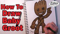 Draw Baby Groot - Harptoons