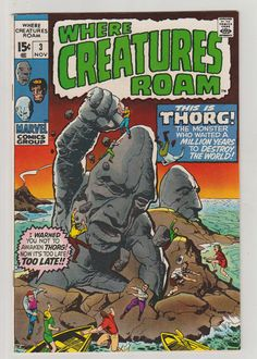 Where Creatures Roam Vol 1 3 Bronze Age Comic by RubbersuitStudios #horrorcomics #jackkirby #comicsforsale