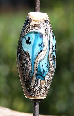 Ghostly Pools Handmade Lampworked Glass Bead OOAK by ninaeagle, $21.99