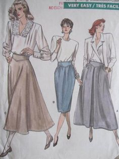 See Sally Sew-Patterns For Less - Flared or Straight Skirt Vogue 7018 Fashion Pattern Sz. 14 - 18, $8.99 (http://stores.seesallysew.com/flared-or-straight-skirt-vogue-7018-fashion-pattern-sz-14-18/)