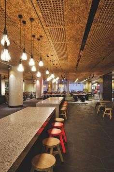 Osb on the ceiling Interior Design Awards, Commercial Interior Design, Commercial Interiors, Workplace Design, Corporate Design, Retail Design, Corporate Interiors, Office Interiors, Interior Architecture