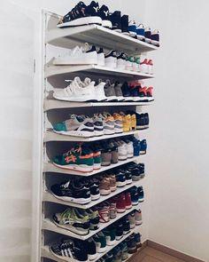 Pin by ashtynn on my room closet bedroom, shoe storage, diy shoe rack. Diy Rack, Diy Shoe Rack, Closet Bedroom, Bedroom Decor, Hallway Closet, Closet Shoe Storage, Shoe Closet Organization, Shoe Racks For Closets, Regal Design