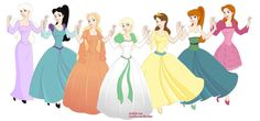 Lady Amalthea (the last unicorn), Snow White (happily ever after), Melisande (flight of dragons), Odette (swan princess), Anastasia, Thumbelina, Irene (the princess and the goblin)
