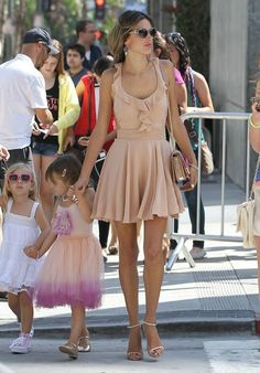 Alessandra Ambrosio and Anja street style