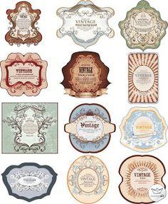 Perfume Labels Vintage Ephemera Stickers Pantry Shipping Label