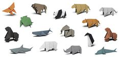 Create and fold 16 of the world's most endangered species with the free origami animal templates from the WWF – trend inspiration Summer 2016