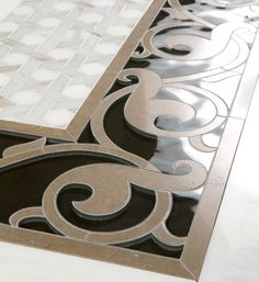 Matias Border- Water jet  Tressage - Water jet  by Mosaique Surface