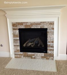 {fireplace makeover using airstone}