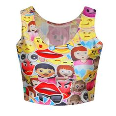 Pokemon Summer Women Colorful Cool Cute Cartoon Beach Crop Tops Sleeveless Print Waist Corset Tank Tops Camisole Vest Tops F657