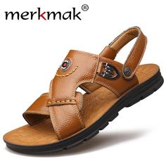 Merkmark Luxury Men Sandles Genuine Leather