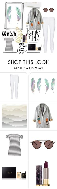"""simply gorgeous"" by adlinaabdullah on Polyvore featuring Haute Hippie, 10 Crosby Derek Lam, York Wallcoverings, WithChic, Oliver Peoples, Gucci and Urban Decay"