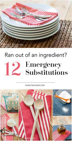 12 emergency ingredient substitutions for holiday baking! Don't you hate it when you run out of that one thing?? Love these easy swaps for buttermilk, baking soda, and more! Saving this list for later!