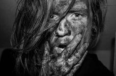 Black and grey portrait