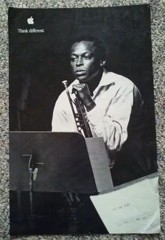 Apple Computer Poster Educator Series Think Different Miles Davis 1998 #Apple
