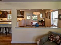 Pass Through View From The Dining Room Into The Kitchen Craftsman Home Nest From A H Use To A H Me Pinterest Craftsman And Kitchens