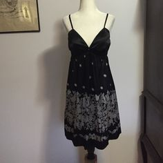 Express Silk Slip Dress - Med Easy to wear & beautiful! Adjustable spaghetti straps & elasticized just under bust for a super flattering fit! Excellent condition Express Dresses