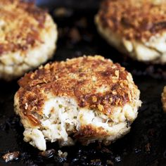 Crisp exterior, light & moist interior crab cakes. No fussing with filling. Just plenty of crab meat. Simple but absolutely delicious.