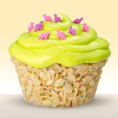 rice krispie treat cupcakes, what a great idea! Ingredients 1/4 cup (1/2 stick) butter or margarine 1 package (10-1/2 oz.) miniature marshmallows 1 package (11 oz.) POST CUPCAKE PEBBLES