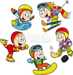 Illustration about Winter sport - hockey player, skater boy, skier vector isolated on white background. Illustration of beans, sled, isolated - 37975708 Winter Olympics 2014, Summer Olympics, Clipart, Star Reading, Nursery Worksheets, Free Stock, Hockey Players, Cartoon Images, Olympic Games
