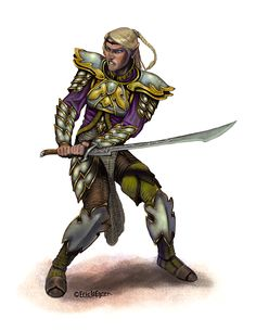 Eric Lofgren Presents: Elf Blademaster - Eric Lofgren Presents: Elf Blademaster This stock art image by Eric Lofgren depicts a lightly armored, Elf Blademaster, Fantasy Warrior, Fantasy Rpg, Privateer Press, White Wolf, Stock Art, Art File, Misfits, All Art