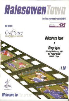 Halesowen Town Away   Southern League   28/02/07