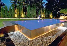 Ideas For Backyard Makeover Ideas Swimming Pools Small Backyard Pools, Backyard Pool Designs, Small Pools, Swimming Pools Backyard, Swimming Pool Designs, Pool Landscaping, Residential Landscaping, Pool Decks, Infinity Pool Backyard