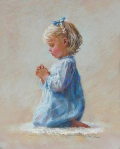 ♡ Artist: Kathy Fincher ~ *Dear Lord....* Disney Characters, Fictional Characters, Faith, Sculpture, Let Us Pray, Disney Princess, Children, Artwork, Painting