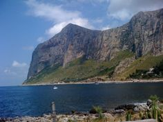 Al mare, Parco Monte Gallo, vicino a Palermo, Sicilia