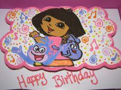 Dora Explorer Cupcake Birthday Cake