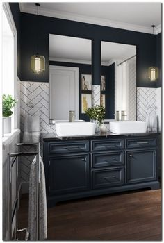 Navy Bathroom Decorating Ideas | DIY Ideas | Navy bathroom ...