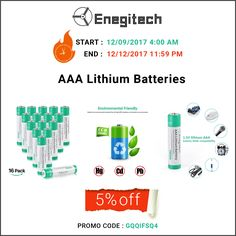 The Enegitech 16 pack non rechargeable 1.5V 1200 mAh AAA Lithium Batteries for digital cameras, toys, game controllers, etc are available only at $19.99. Click here https://www.amazon.com/dp/B076MPL443 to grab this chance. Hurry up!! #batteries #lithiumbatteries #camerabatteries #batteriesfortoys