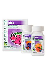 Nutritious gummies provide omega 3s and other essential nutrients that support memory, learning, and concentration.