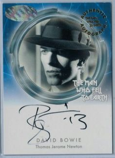 2015 The Man Who Fell To Earth trading cards- autographed 2 of 2