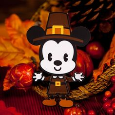 Printable Mickey Mouse Thanksgiving Cutie