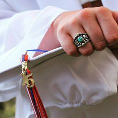 Lovely grad photo from one of our seniors! #classof2015 #turquoise #classring #hyosilver #congrats