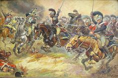 Waterloo charge du 2è carabinier belge.