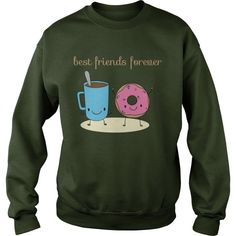 Bff Hoodies Coffee Donut Best Friends Forever - Bff Shirts - Bff Ssweatshirts - There is nothing on this earth more to be prized than true friendship. Best Friend Sweatshirts, Best Friend T Shirts, Friends Sweatshirt, Bff Shirts, Birthday Gifts For Best Friend, Best Friend Gifts, Graphic Tees, Graphic Sweatshirt, Best Friends Forever