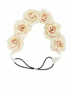 Velvety Rose Flower Crown Headwrap: Charlotte Russe
