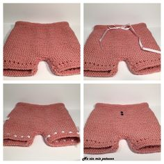 Cubre pañal punto bobo 6. Crochet For Kids, Easy Crochet, Crochet Baby, Knit Crochet, Crochet Summer, Crochet Beanie Pattern, Crochet Gloves, Point Mousse, Knitted Baby Clothes
