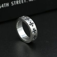 S925 Sterling Silver Jewelry Thai Silver Ring Male And Female Stars With Paragraph Ring Retro Gothic Cross Ring //Price: $US $49.68 & Up To 18% Cashback //     #steampunktendencies