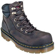 Doc Martens Men's Brown R14126202 Safety Toe Slip-Resistant EH Burnham Boots