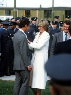 August 15, 1981: Prince Charles & Princess Diana at RAF Lossiemouth upon arriving in Scotland from Egypt. They were headed to Balmoral Castle.