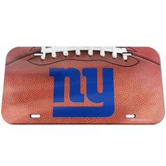 New York Giants WinCraft Football Crystal Mirror License Plate