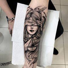 Work done by tattoo artist Aguinaldo Cavalcant. - Work done by tattoo artist Aguinaldo Cavalcant. (AdrianoSombra-Drico … Best Picture For in - God Tattoos, Neue Tattoos, Badass Tattoos, Forearm Tattoos, Future Tattoos, Body Art Tattoos, Small Tattoos, Tatoos, Libra Tattoo